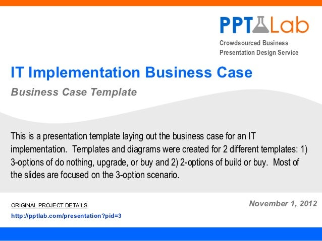Crowdsourced Business                                                         Presentation Design ServiceIT Implementation...