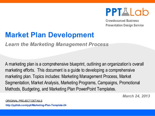Marketing Plan Development Framework