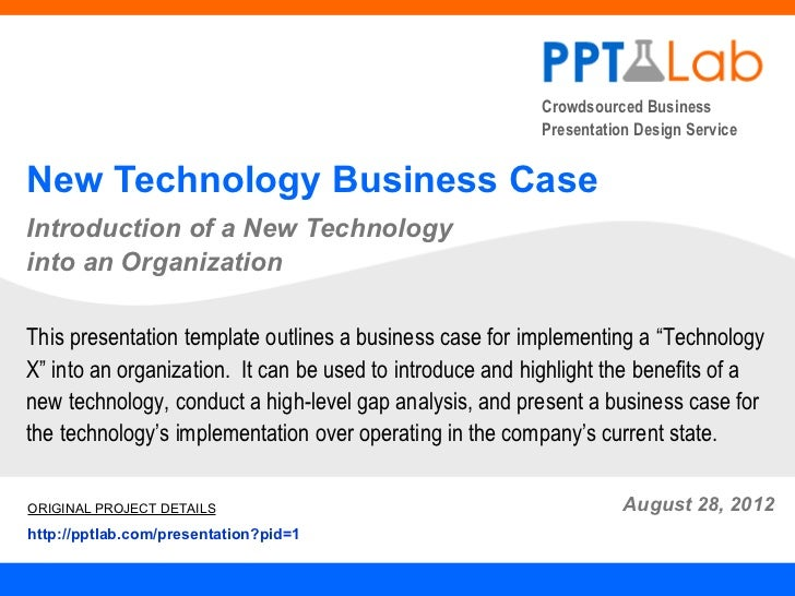 New Technology Business Case