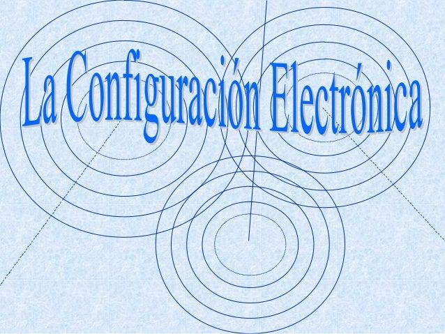 ¿ Cómo están    distribuidos loselectrones de un átomo   entre sus niveles     energéticos ?