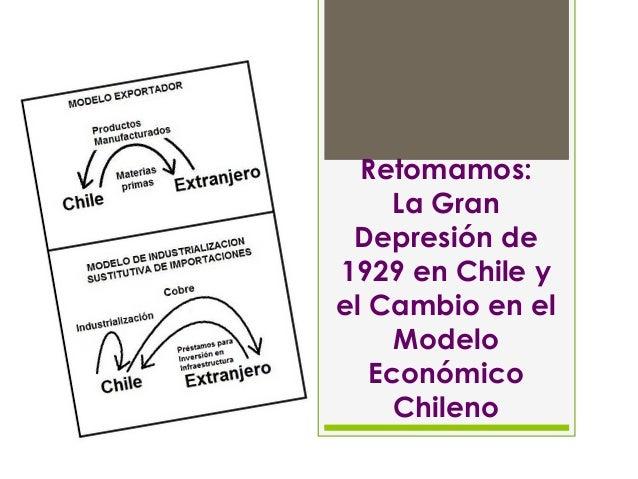 Retomamos: La Gran Depresión de 1929 en Chile y el Cambio en el Modelo Económico Chileno