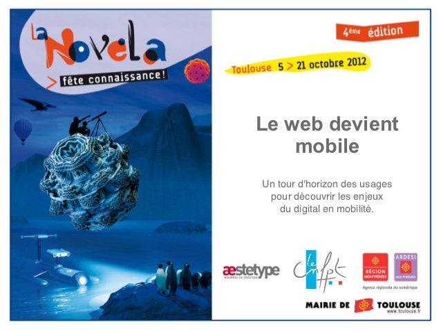 Mobilité - Nouvelles tendances du web public - La Novela 2012