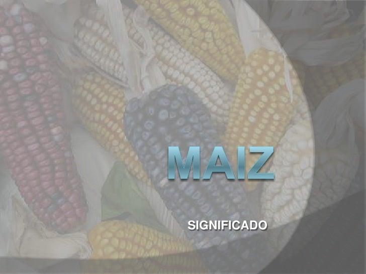 Maiz como simbolo