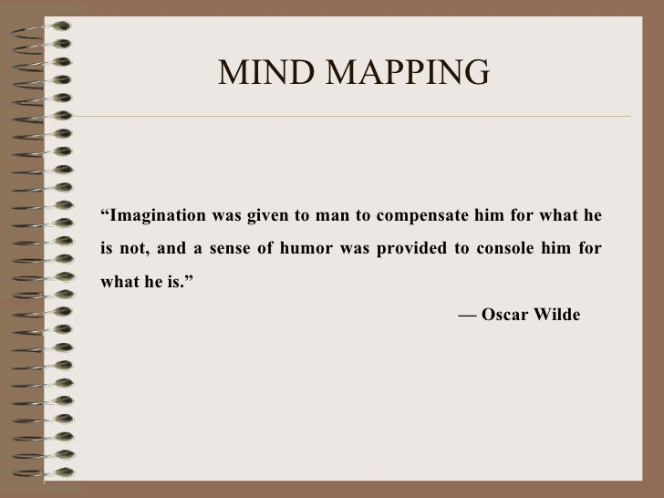 """MIND MAPPING """" Imagination was given to man to compensate him for what he is not, and a sense of humor was provided to con..."""