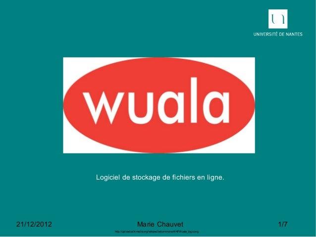 Logiciel de stockage de fichiers en ligne.21/12/2012                          Marie Chauvet                               ...