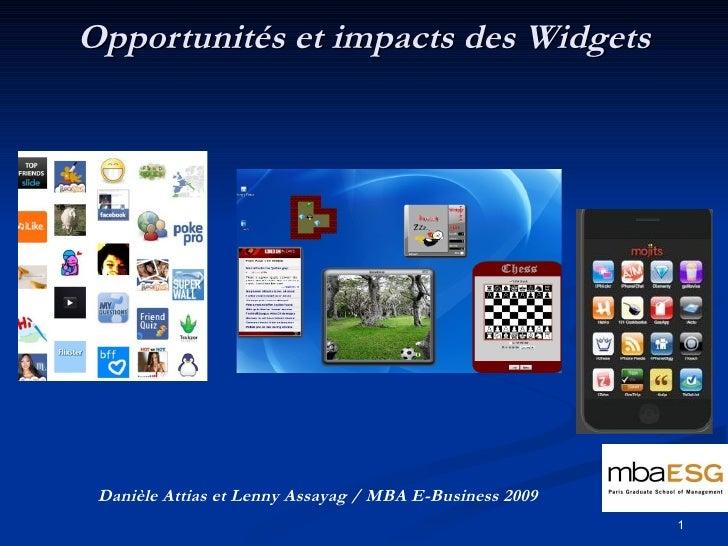 """Opportunités et impacts des Widgets """"Quelle en est la  valeur ajoutée pour la visibilité de la marque """""""