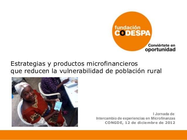 Microfinanzas en las zonas rurales