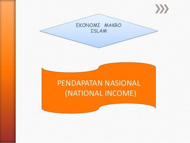 EKONOMI MAKRO ISLAM PENDAPATAN NASIONAL (NATIONAL INCOME)