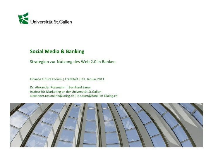 Social Media & Banking  Strategien zur Nutzung des Web 2.0 in Banken    Finance Future ...