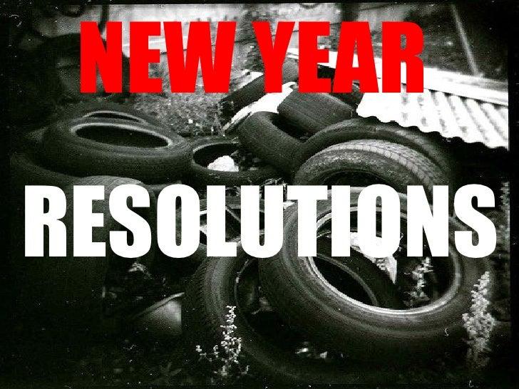 New Year's Resolutions Federico García