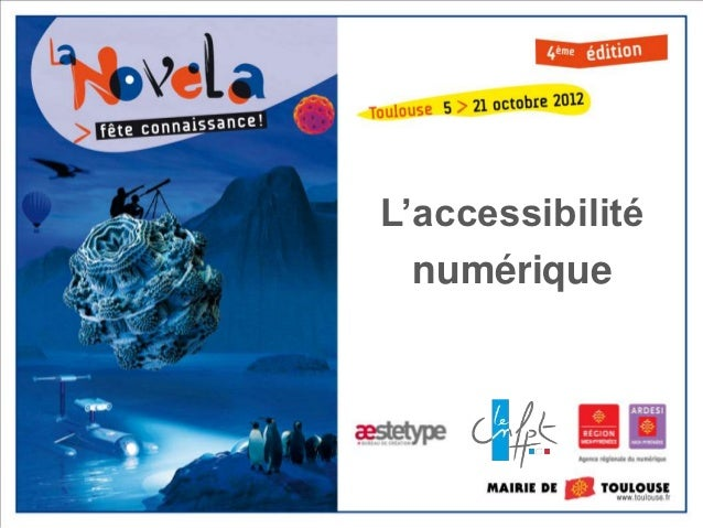 Accessibilité - Nouvelles tendances du web public - La Novela 2012
