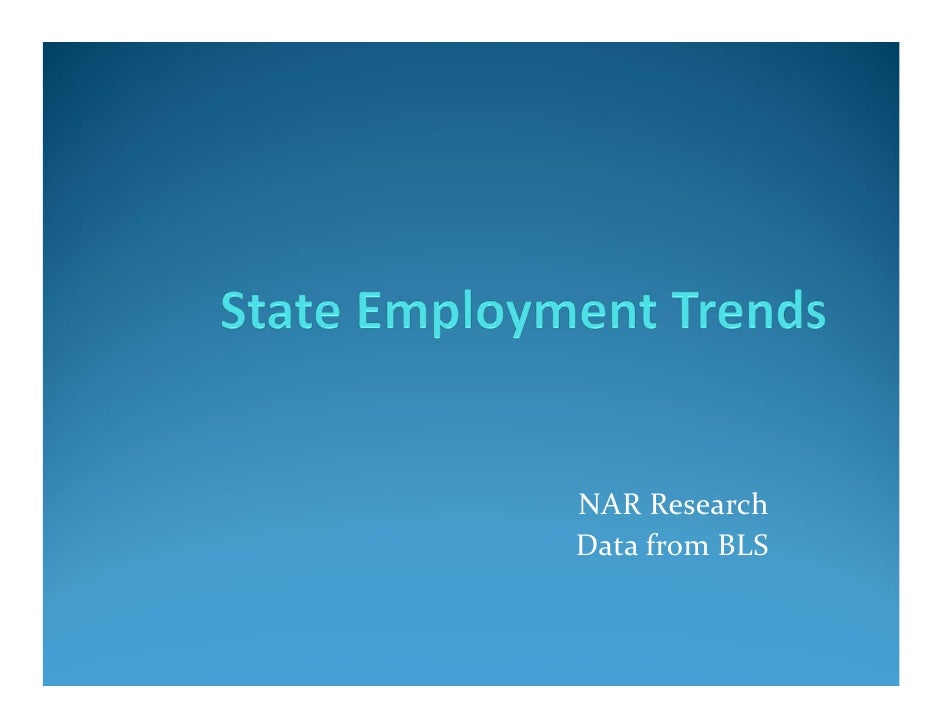 NAR ResearchData from BLS
