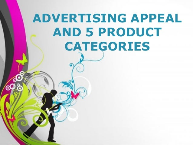 Free Powerpoint Templates Page 1Free Powerpoint Templates ADVERTISING APPEAL AND 5 PRODUCT CATEGORIES