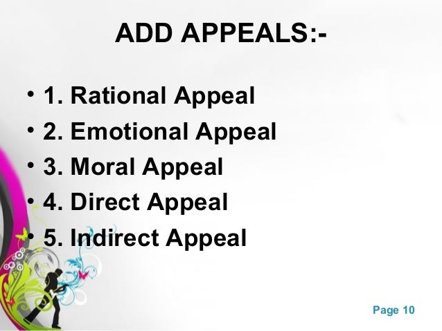 What is an emotional appeal?Thanks.?