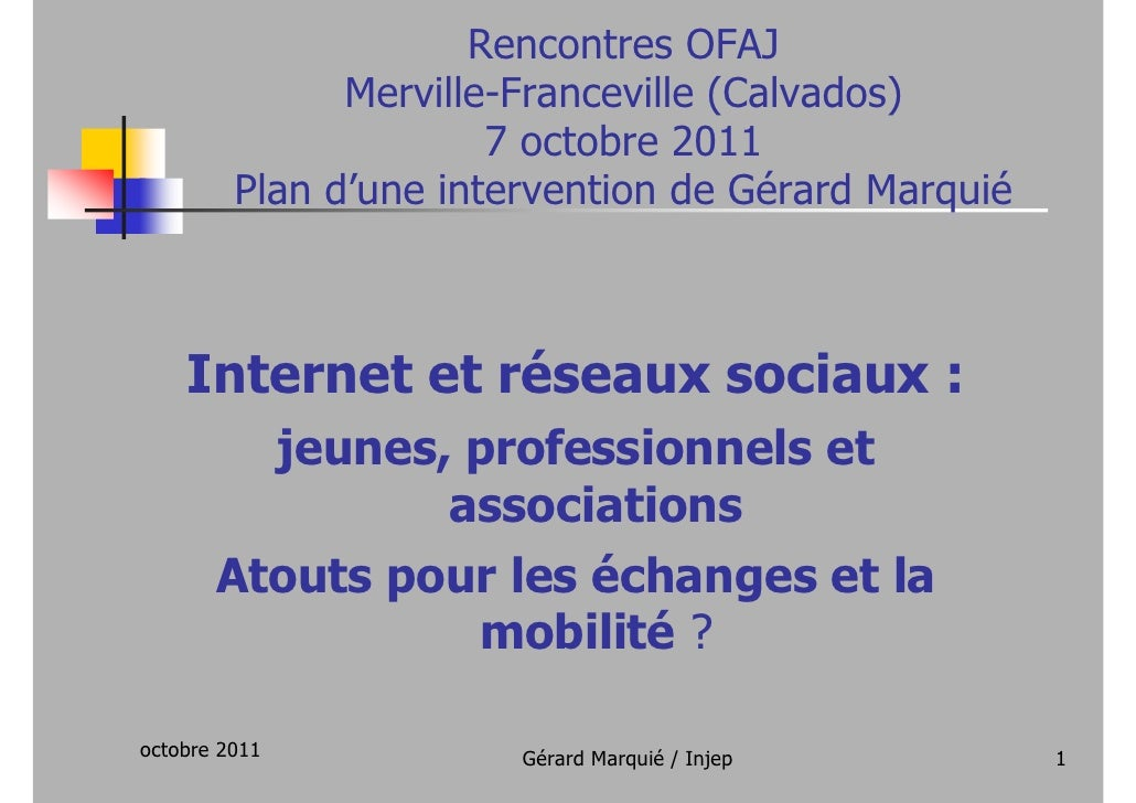 Rencontres OFAJ               Merville-Franceville (Calvados)                       7 octobre 2011         Plan d'une inte...