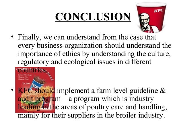 kfc case study Summary: in 2007, kfc had opened 2000 outlet stores in china, leaving rival macdonald's far behind, achieving high praise from chinese consumers and.