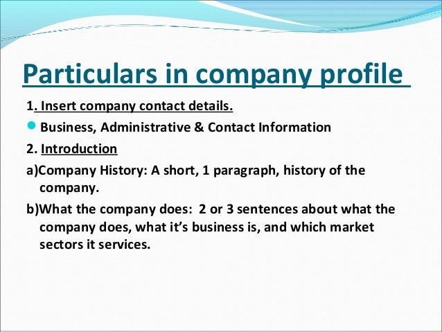 How to write brief company history