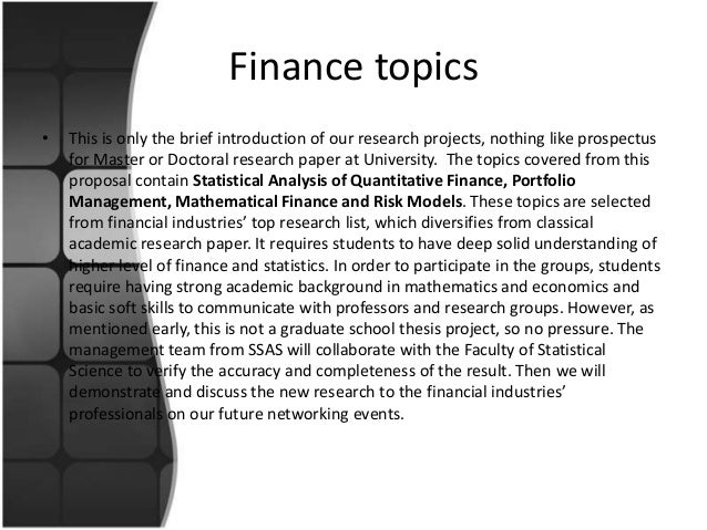 Write my research paper on financial services