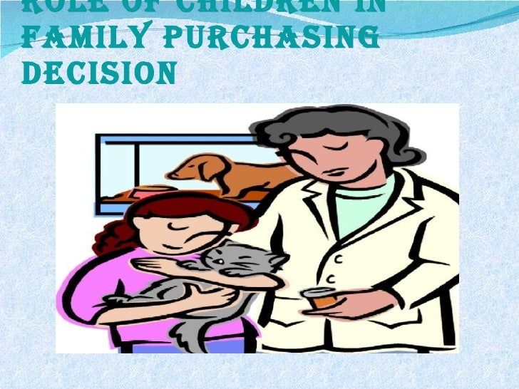 Role of children in family purchasing decision