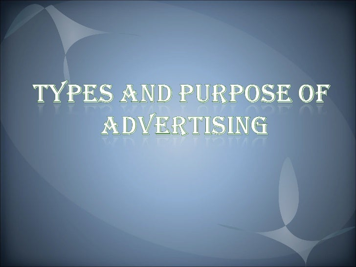 Ppt on types of advertising