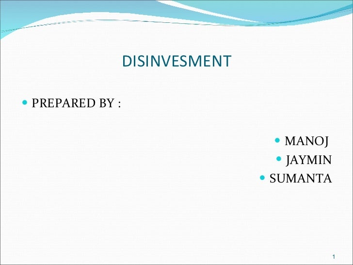 Ppt on disinvestment