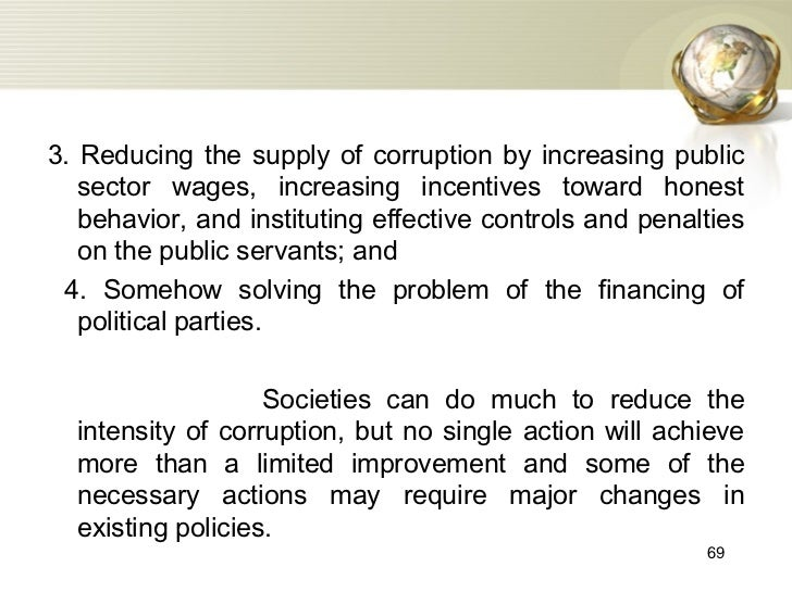 Essay on anti corruption measures in public life