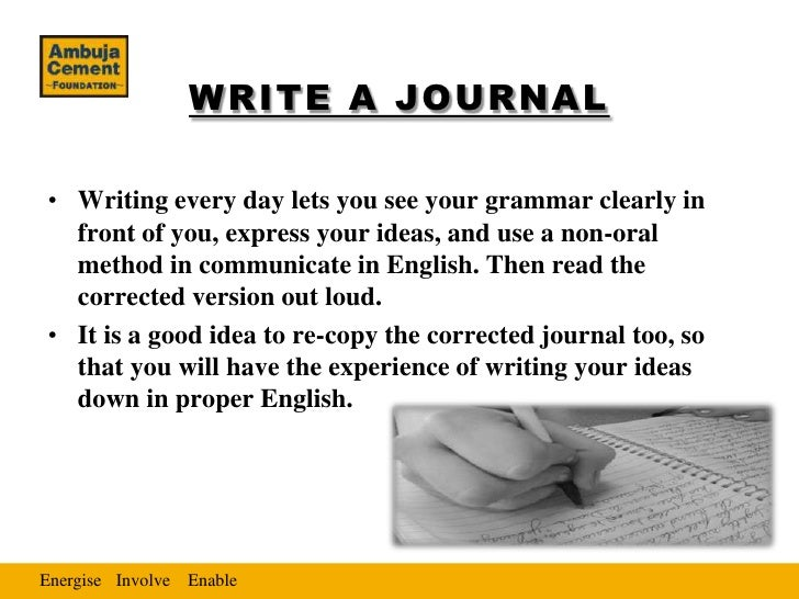 how to write a journal for english class