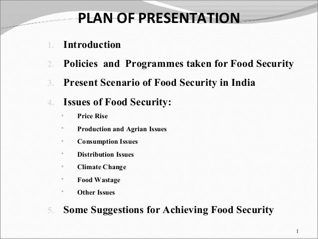 Essay on food security in india