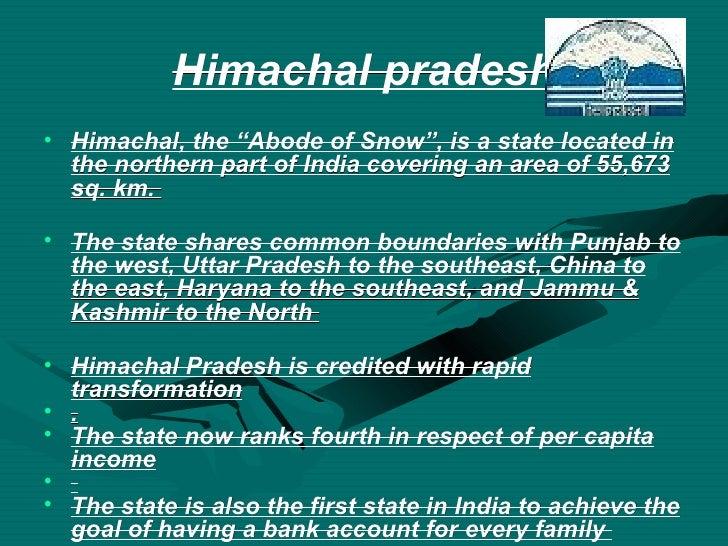 Ppt on himachal pradesh
