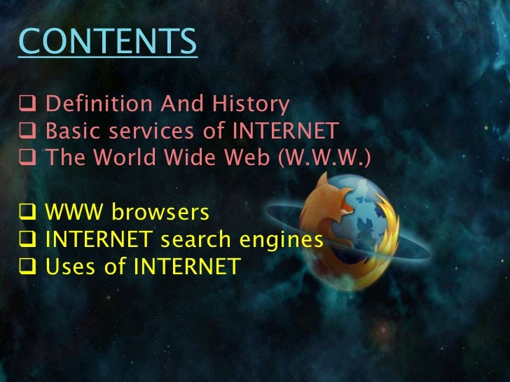an essay on the history of the internet Importance of internet journal #6 internet had a large impact in my life when i was a teenage and still plays an important role in my daily life.