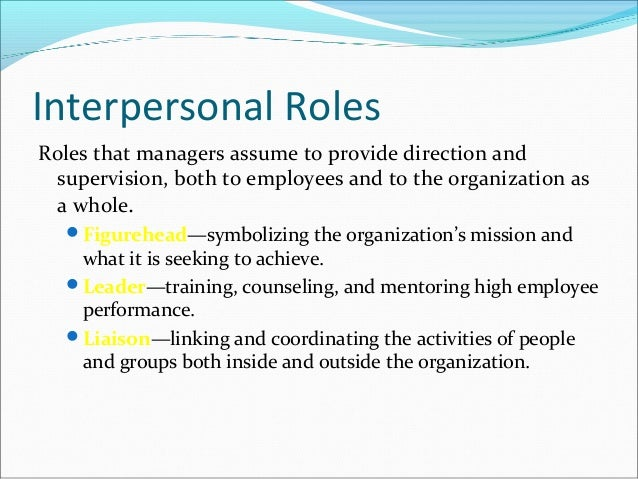 Write a note on the managerial roles and skill