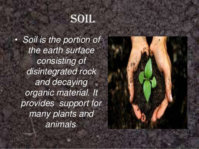 Natural resources for Soil as a resource introduction