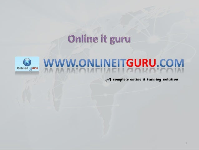 GURU A complete online it training solution  1
