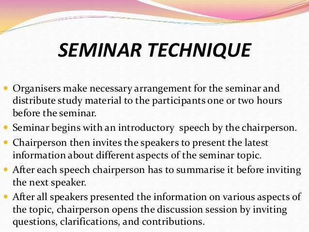how to write a seminar presentation