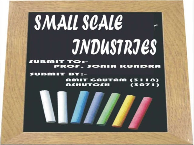 small scale businesses