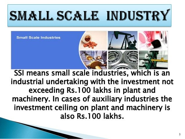 information on small scale industries