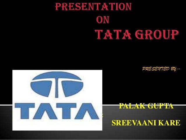 Ppt on tata groups