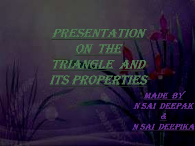 Ppt on triangles cbse viith class