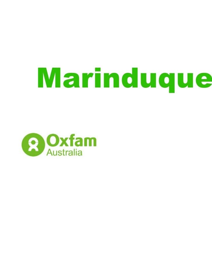 Marinduque Oxfam Australia Photos