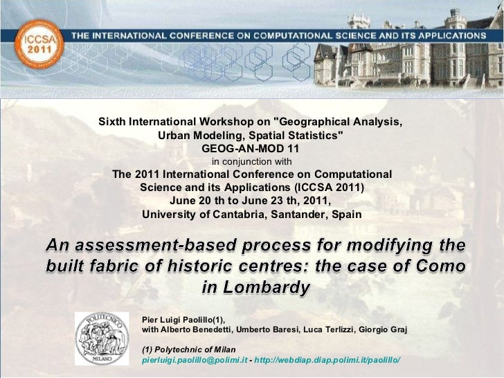 An assessment-based process for modifying the built fabric of historic centres: the case of Como in Lombardy