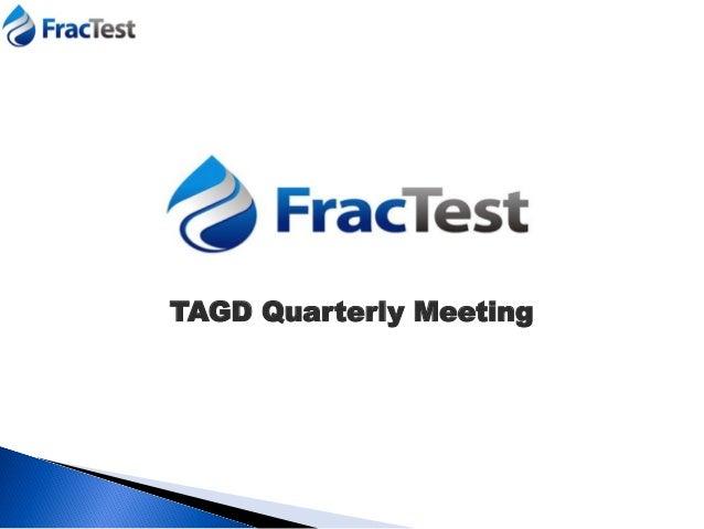 TAGD Quarterly Meeting