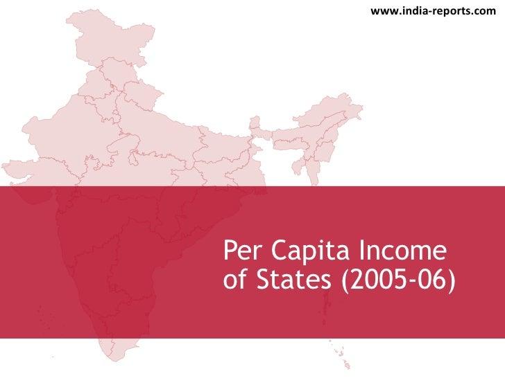 Per Capita Income of States (2005-06) www.india-reports.com