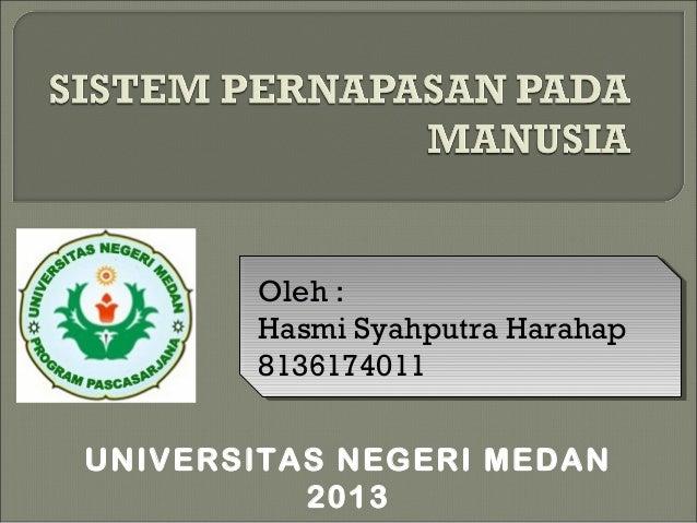 Oleh : Hasmi Syahputra Harahap 8136174011 Oleh : Hasmi Syahputra Harahap 8136174011 UNIVERSITAS NEGERI MEDAN 2013