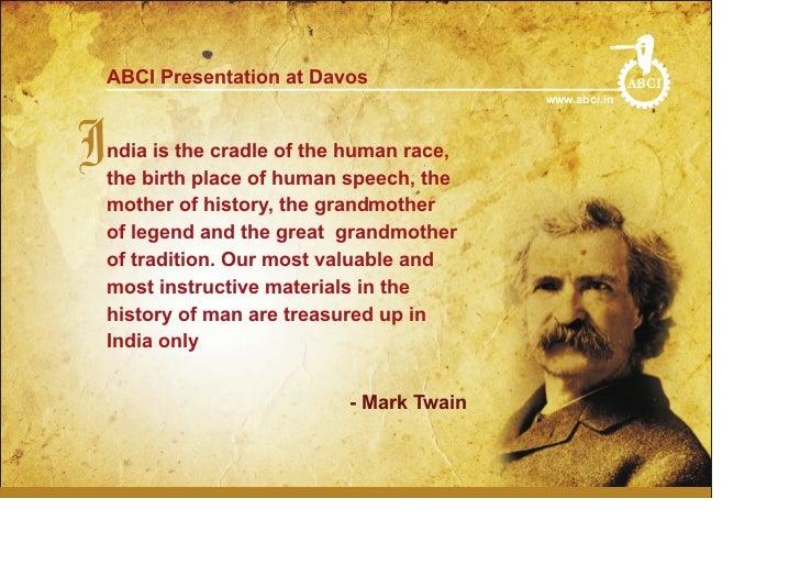 ABCI Presentation at Davos                           ABCI                                          www.abci.inIndiabirth p...