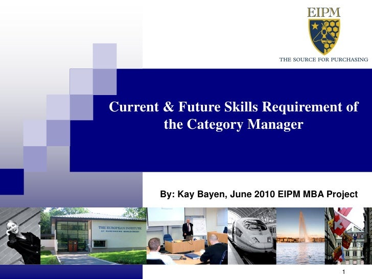 Current and Future Skills Requirements of the Category Manager
