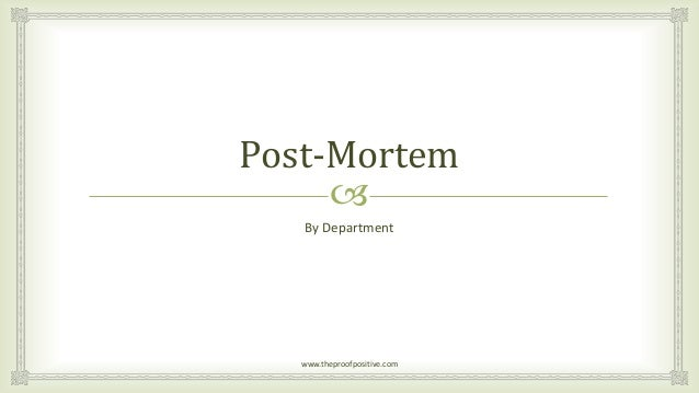 878 PROJECT POST MORTEM PowerPoint PPTs on PowerShowcom