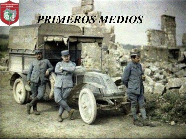 PRIMEROS MEDIOS