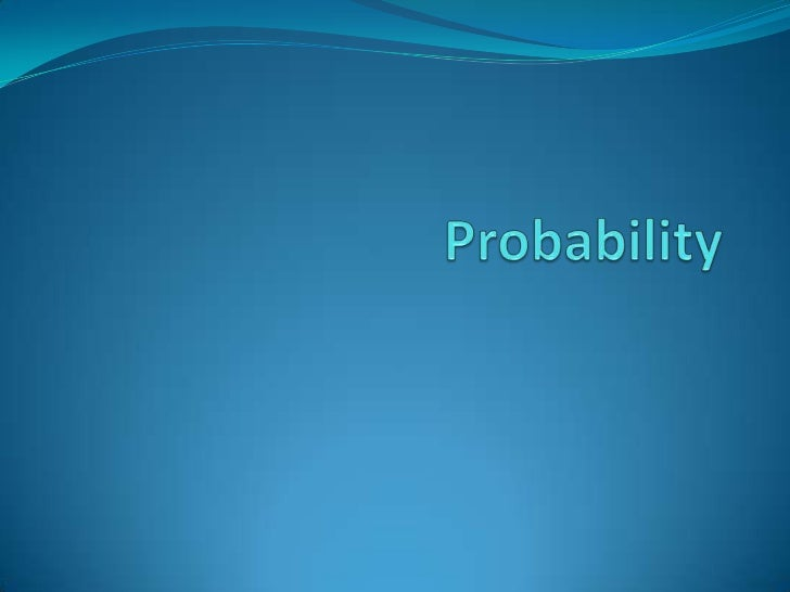  evaluate probabilities in simple cases by means of  enumeration of equiprobable elementary events (e.g.  for the total s...