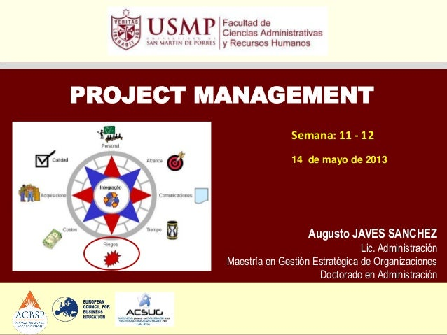 Ppt project management sesión 11 - 12