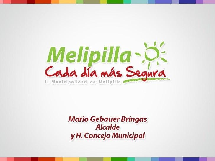 Proyectos de Inversión - Municipalidad de Melipilla